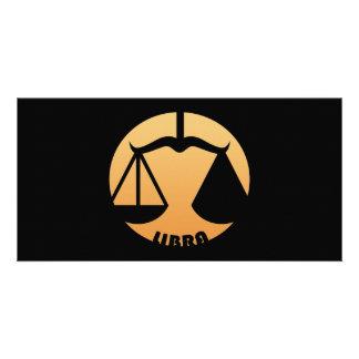 Libra Zodiac Sign Photo Card Template