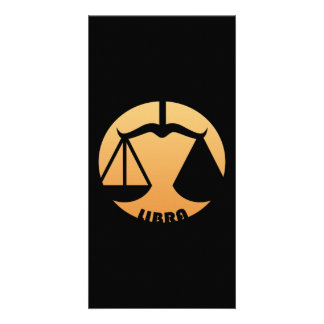 Libra Zodiac Sign Personalized Photo Card