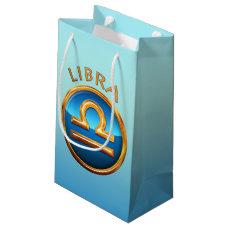 Libra Zodiac Sign Small Gift Bag