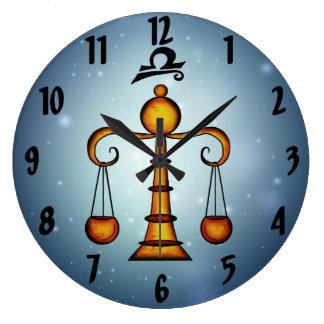 Libra Zodiac Sign Wall Clock