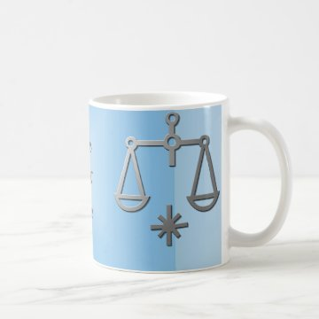 Libra Zodiac Star Sign Silver Blue Tea Coffee Mug at Zazzle