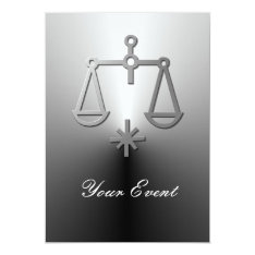 Libra Zodiac Star Sign Silver Party Card at Zazzle