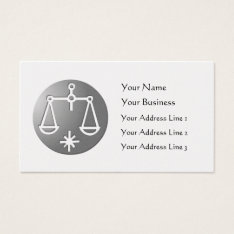 Libra Zodiac Star Sign Silver Premium Business Card at Zazzle