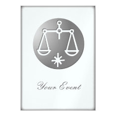 Libra Zodiac Star Sign Silver Premium Card at Zazzle