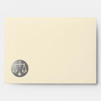 Libra Zodiac Star Sign Silver Premium Envelopes