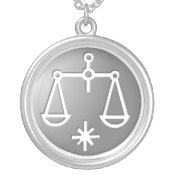Libra Zodiac Star Sign Silver Premium necklaces