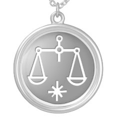Libra Zodiac Star Sign Silver Premium Silver Plated Necklace at Zazzle