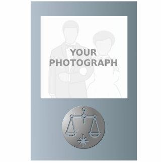Libra Zodiac Star Sign Silver Premium Standing Photo Sculpture