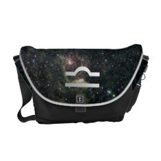 Libra Zodiac Star Sign Universe Courier Bag at Zazzle