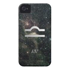 Libra Zodiac Star Sign Universe Iphone 4 Cover at Zazzle
