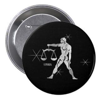Libra Zodiac Symbol Button