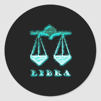 Libra Zodiac Symbol Classic Round Sticker
