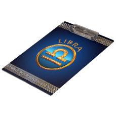 Libra Zodiac Symbol Clipboard