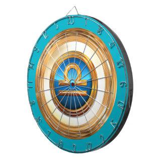 Libra Zodiac Symbol Dartboard With Darts