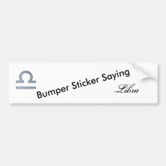 Libra Zodiac Symbol Element Bumper Sticker