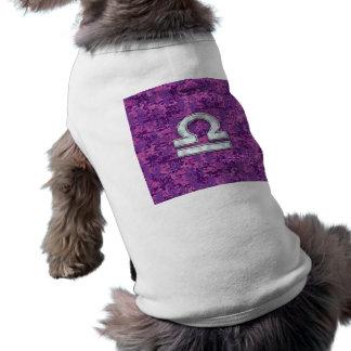 Libra Zodiac Symbol Fuchsia Pink Digital Camo T-Shirt