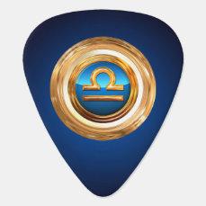 Libra Zodiac Symbol Guitar Pick