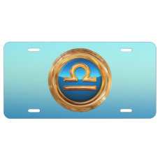 Libra Zodiac Symbol License Plate