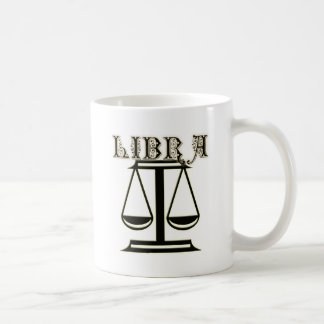 Libra Zodiac Symbol Coffee Mugs