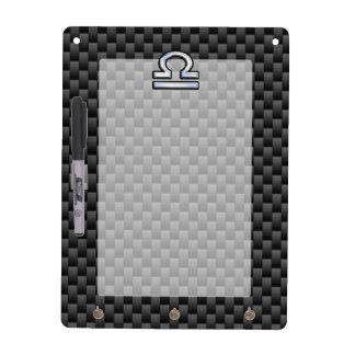Libra Zodiac Symbol on Carbon Fiber Decor Dry-Erase Board