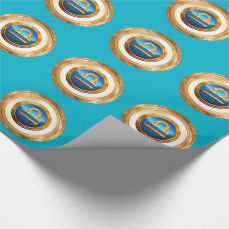 Libra Zodiac Symbol Wrapping Paper
