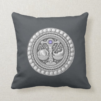 "Libra Zodiac Throw Pillow 16"" x 16"""