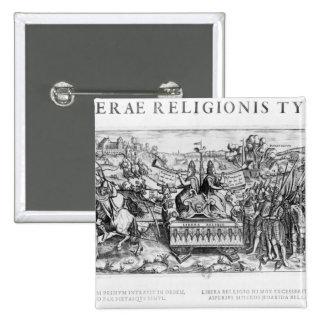 Librae Religionis Typus', allegory 2 Inch Square Button