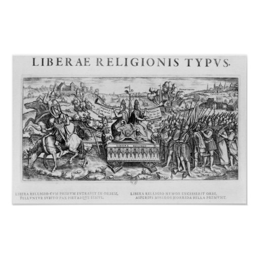 Librae Religionis Typus', allegory Print