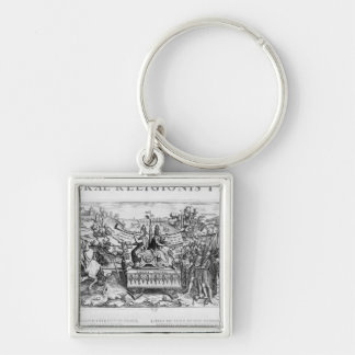Librae Religionis Typus', allegory Silver-Colored Square Keychain
