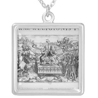 Librae Religionis Typus', allegory Square Pendant Necklace