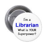 Librarian 2 Inch Round Button