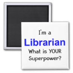 Librarian 2 Inch Square Magnet