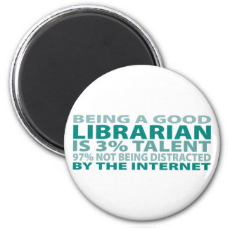 Librarian 3% Talent 2 Inch Round Magnet