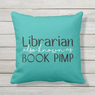 Librarian Also Known As Book Pimp Throw Pillow