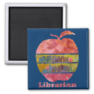 Librarian Apple Magnet