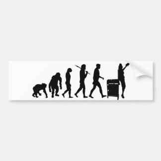 Librarian book lovers library index card gear bumper sticker