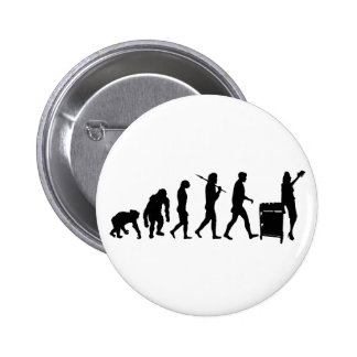 Librarian book lovers library index card gear pinback button