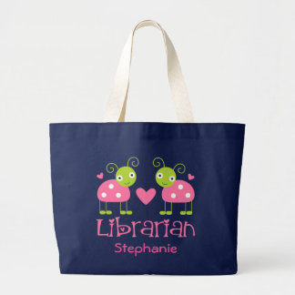 LIBRARIAN Book Personalized Library Tote Bag