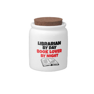 Librarian by Day Book Lover by Night Candy Jars
