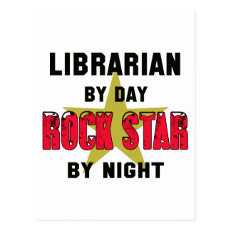 Librarian by Day rockstar by night Postcard