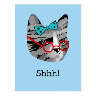 Librarian Cat Postcard