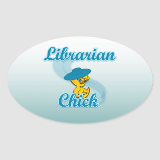 Librarian Chick #3 Oval Sticker