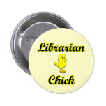 Librarian Chick Pinback Buttons