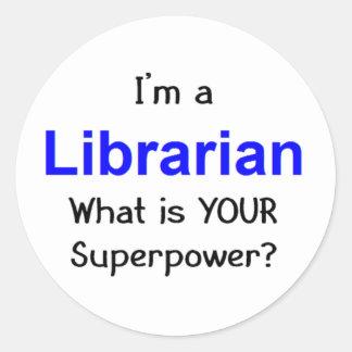 Librarian Classic Round Sticker