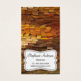 Librarian business cards templates zazzle librarian colorful books business card colourmoves