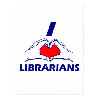 LIBRARIAN DESIGN POSTCARD