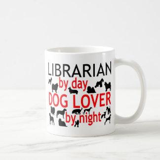 Librarian Dog Lover Classic White Coffee Mug