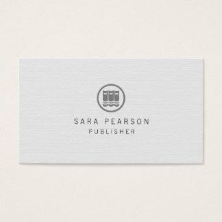 Librarian Elegant Books Icon Publishing Business Card