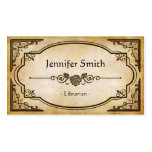 Librarian - Elegant Vintage Antique Business Card Templates