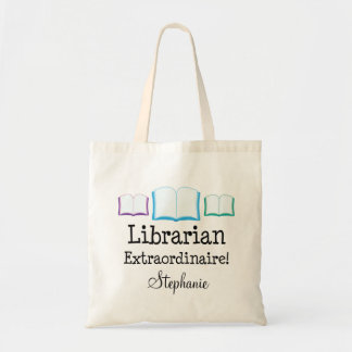 Librarian Extraordinaire Personalized Tote Bag